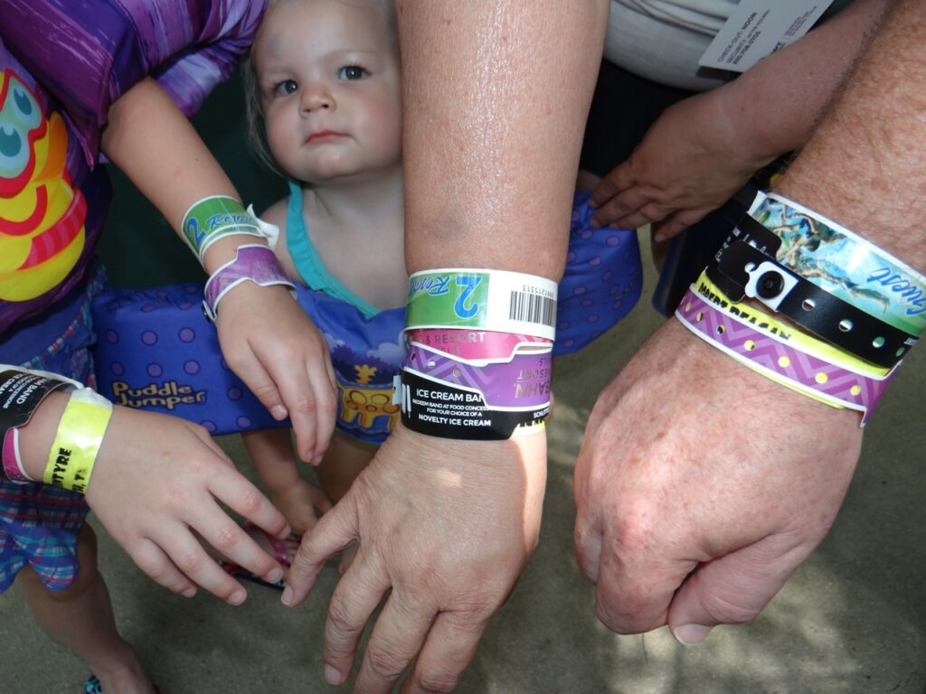 Wristbands and Kid at SchlitterCon Event