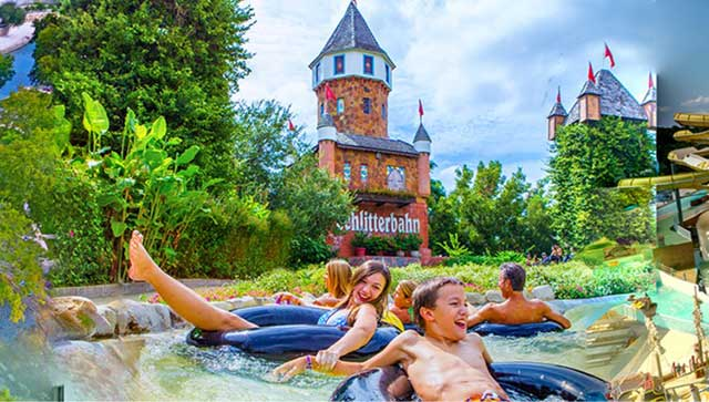 Castle and Tube Ride at Schlitterbahn New Braunfels